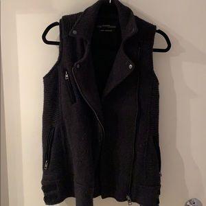 All Saints moto style woven vest
